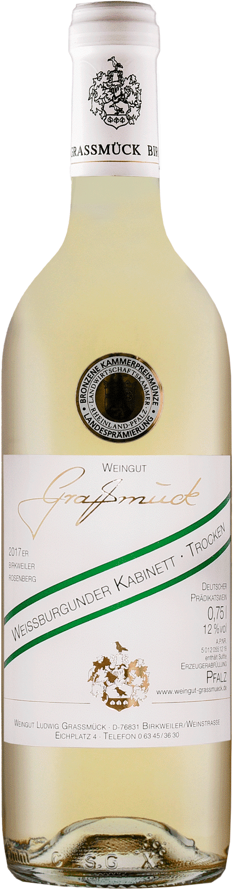 Weingut Ludwig Graßmück, Simon Graßmück, Weissburgunder Kabinett, trocken