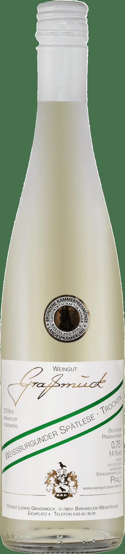 Weingut Ludwig Graßmück, Simon Graßmück, Weissburgunder Spätlese, trocken 2018