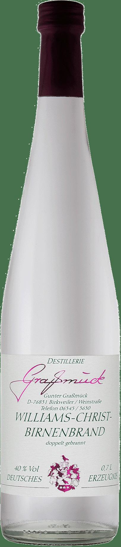 Weingut Ludwig Graßmück, Simon Graßmück, Williams-Christ-Birnenbrand