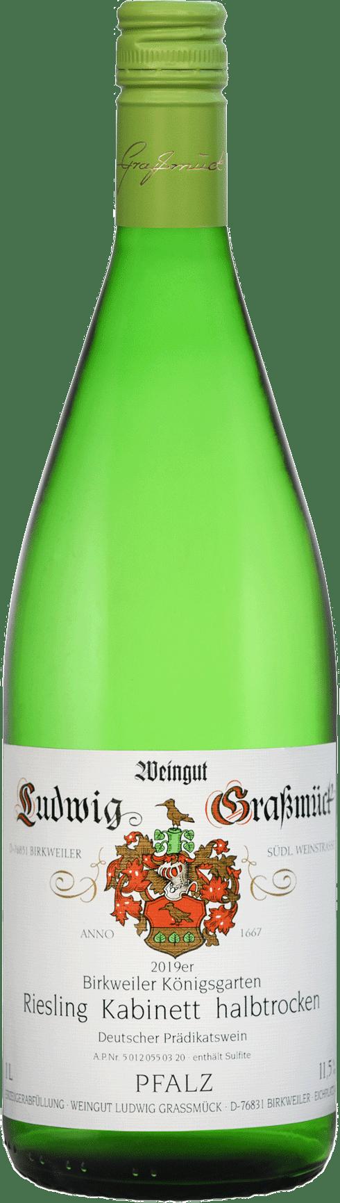 Weingut Ludwig Graßmück, Simon Graßmück, Riesling Kabinett, halbtrocken 2019