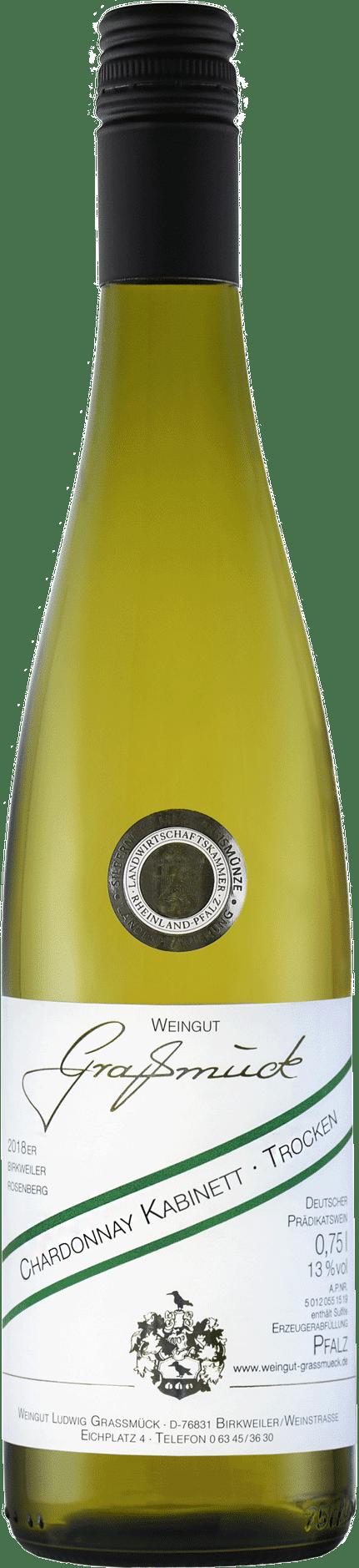 Weingut Ludwig Graßmück, Simon Graßmück, Chardonnay Kabinett, trocken 2018