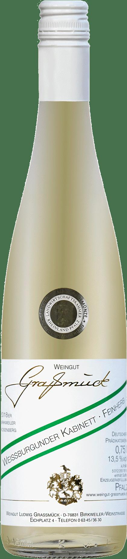 Weingut Ludwig Graßmück, Simon Graßmück, Weissburgunder Kabinett, feinherb 2018