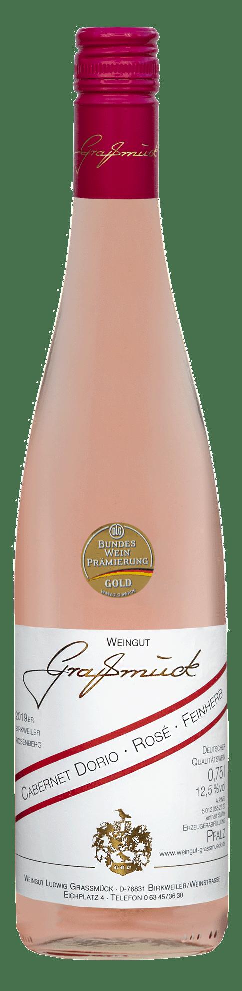Weingut Ludwig Graßmück, Simon Graßmück, Cabernet-Dorio-Rose-Feinherb-2019 mit Auszeichnung