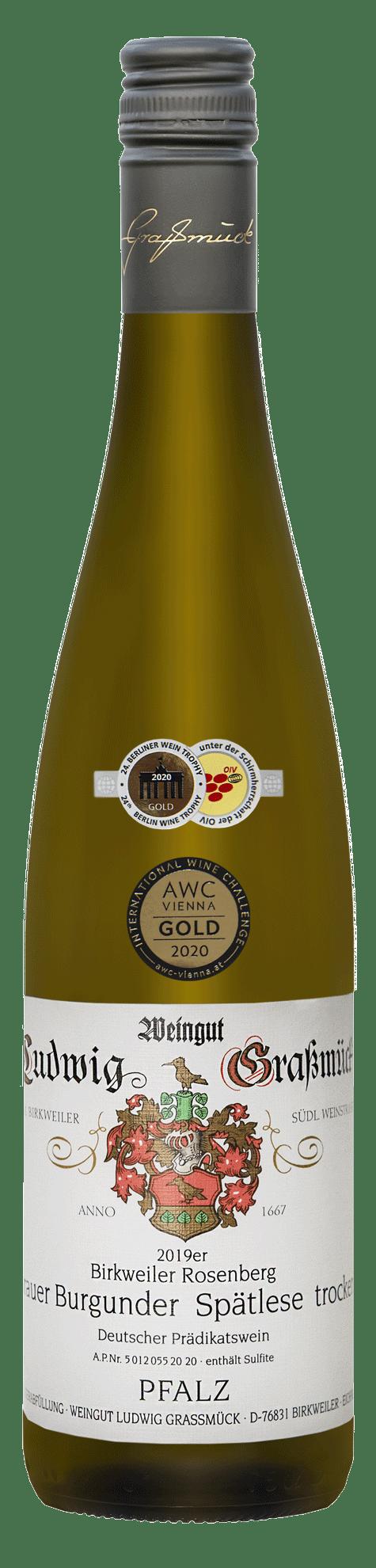 Weingut Ludwig Graßmück, Simon Graßmück, Grauer-Burgunder-Spätlese-trocken-2019 mit Auszeichnung