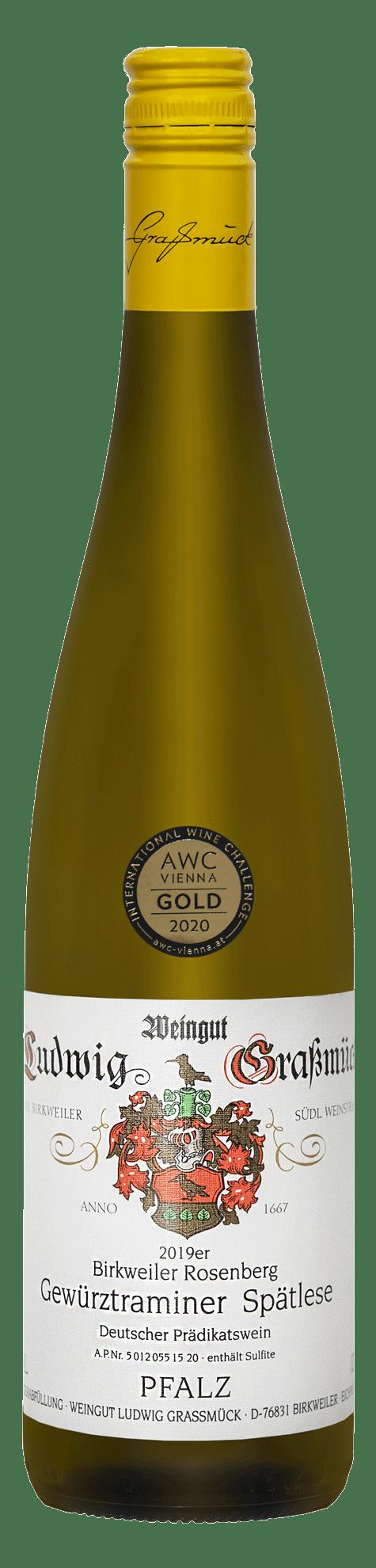 Weingut Ludwig Graßmück, Simon Graßmück, Gewürztraminer-Spälese-2019 mit Auszeichnung