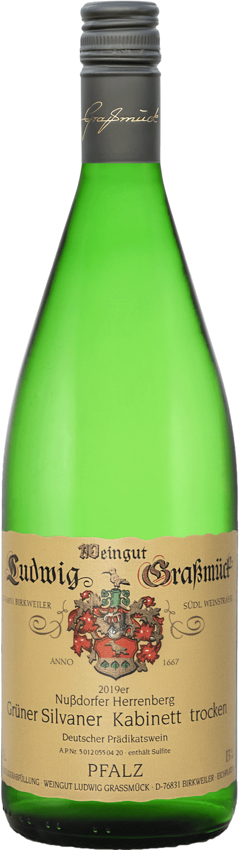 Weingut Ludwig Graßmück, Simon Graßmück, Birkweiler Kastanienbusch Riesling Kabinett Grüner Silvaner Kabinett trocken 2019