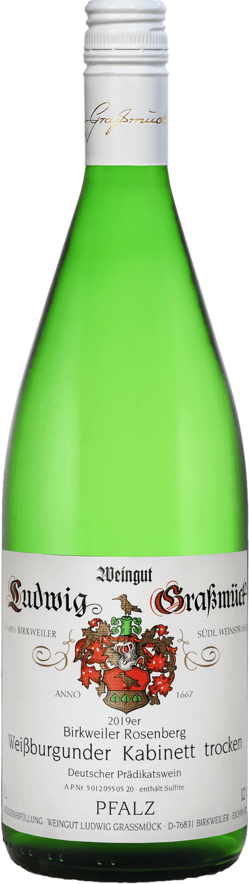 Weingut Ludwig Graßmück, Simon Graßmück, Weissburgunder Kabinett, trocken 2019